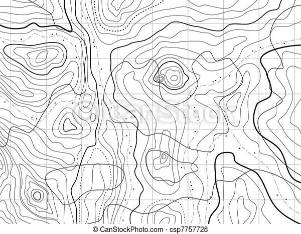 Mapa topográfico abstracto sin nombres - csp7757728