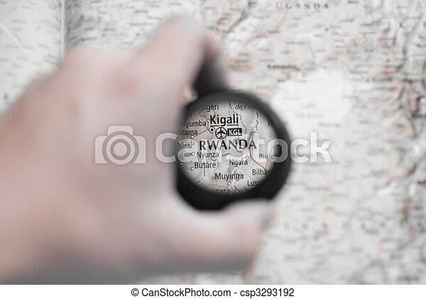 mapa, ruanda - csp3293192