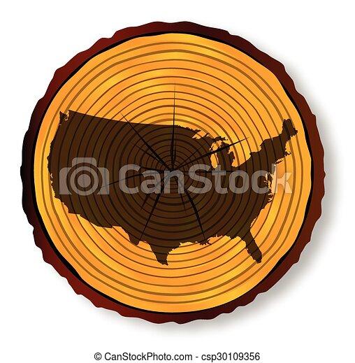 mapa, seção, eua, madeira - csp30109356