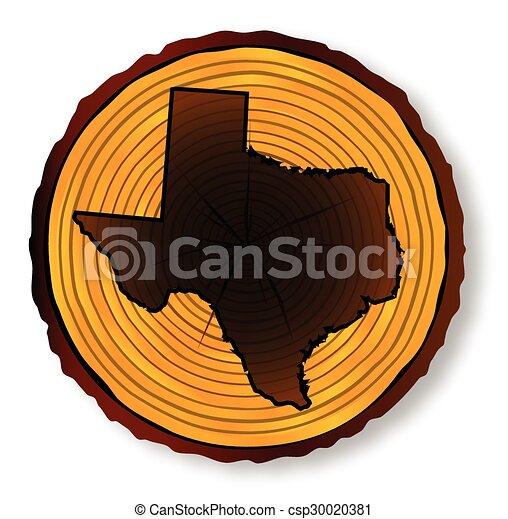 mapa, seção, fim, texas, madeira - csp30020381