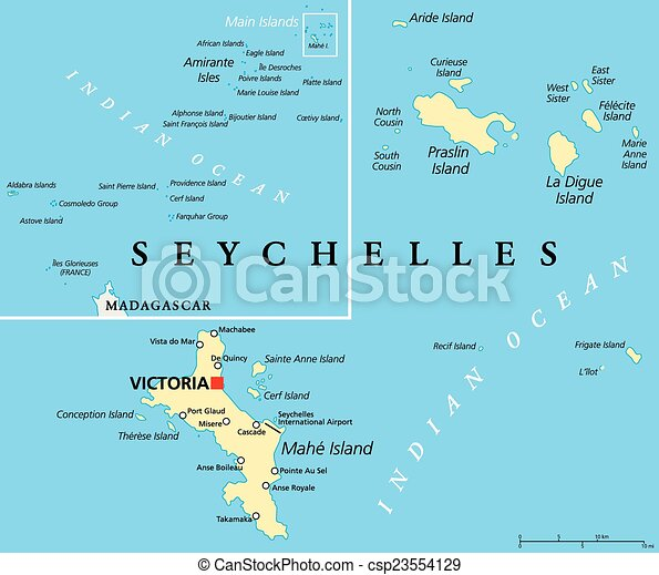 Mapa Politico Seychelles Seychelles Political Map Con La