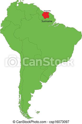 Mapa Suriname Ubicacion De Suriname En Sudamerica