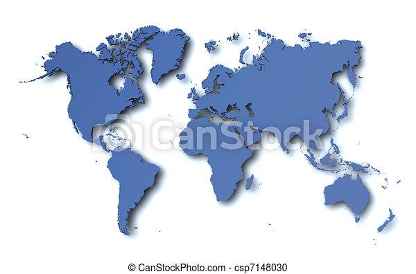 mapa světa - csp7148030