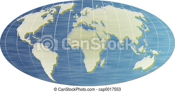 mapa světa - csp0017553