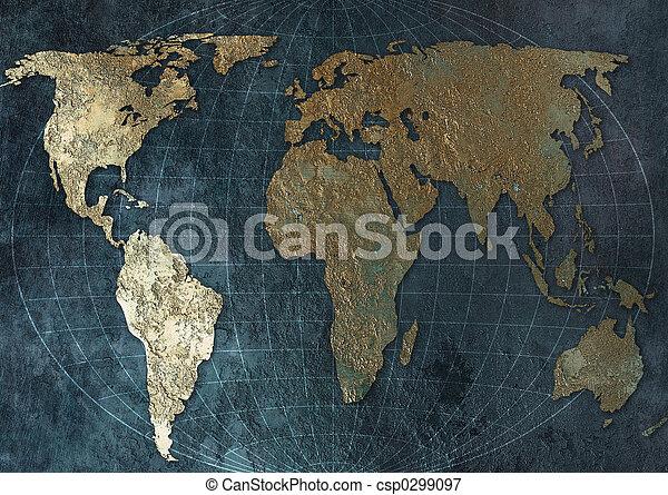 mapa světa - csp0299097