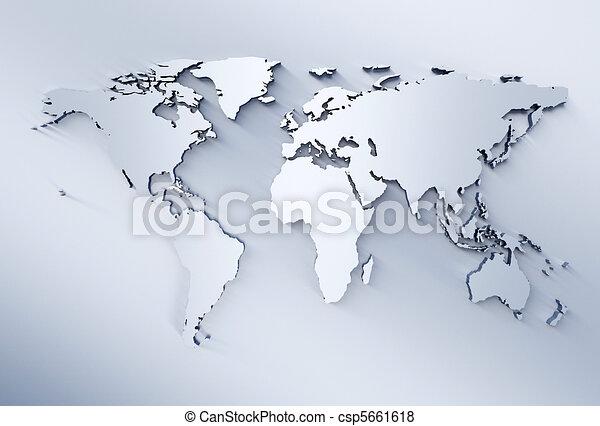mapa světa - csp5661618