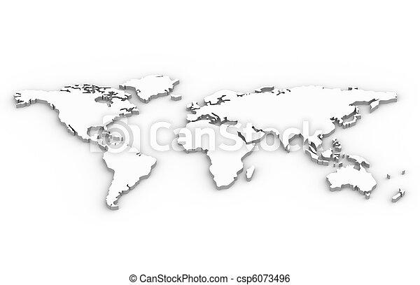 mapa světa - csp6073496