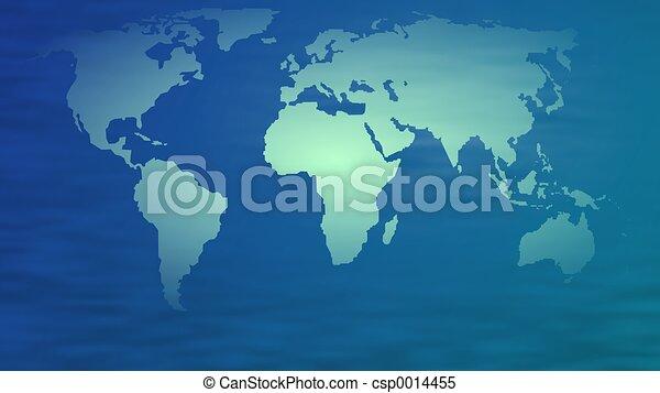 mapa světa - csp0014455