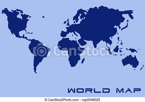 mapa světa - csp0048025