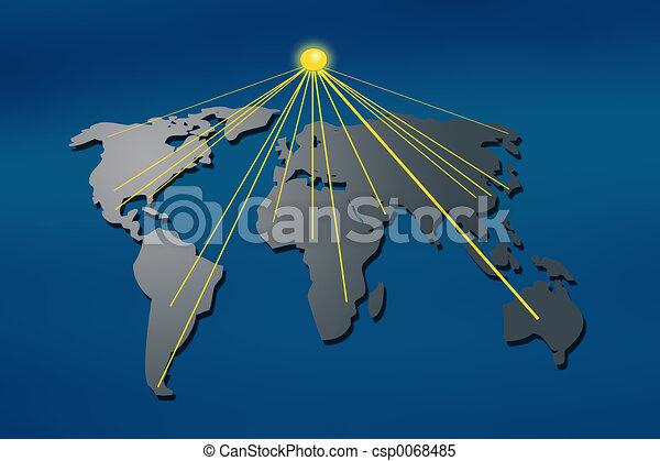 mapa světa - csp0068485