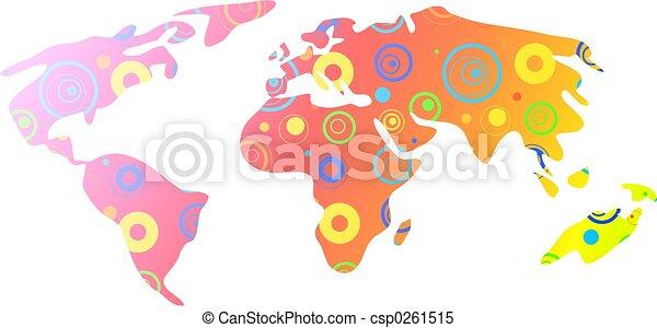 mapa světa - csp0261515