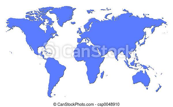 mapa světa - csp0048910