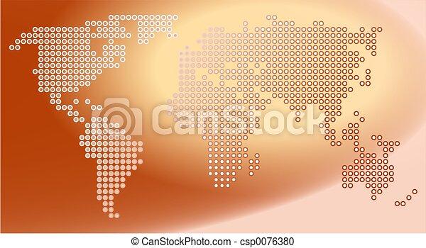 mapa, tečka - csp0076380