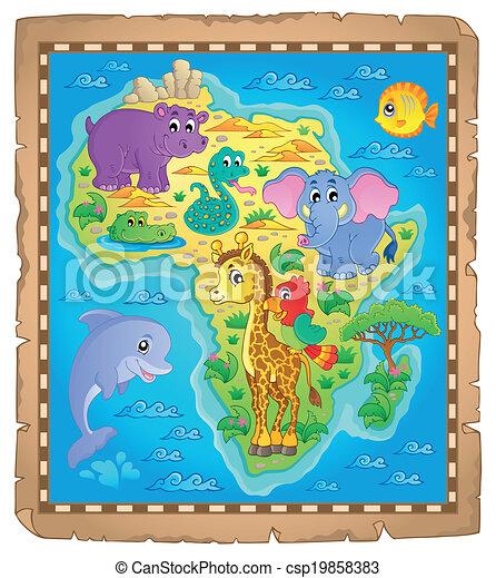 mapa, tema, áfrica, imagem, 3 - csp19858383