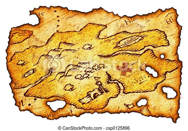 El mapa del tesoro quemado - csp0125896