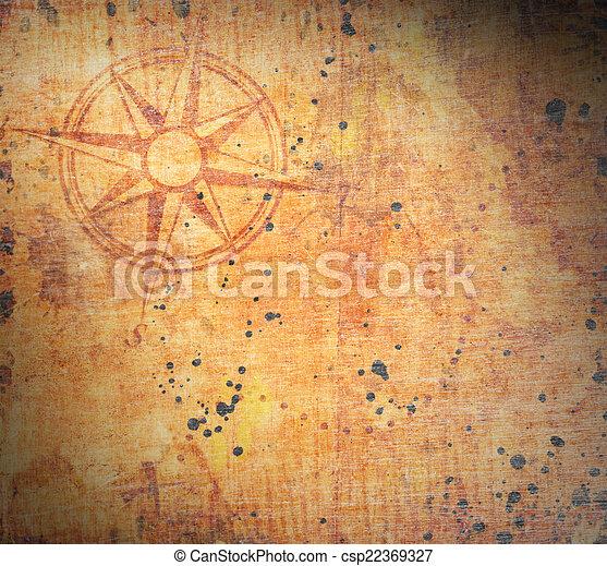 Un viejo mapa del tesoro - csp22369327
