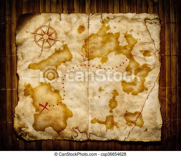 Un viejo mapa del tesoro - csp36654628
