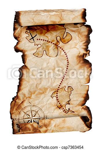 Viejo mapa del tesoro - csp7363454