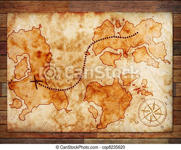 Viejo mapa del tesoro - csp8235620