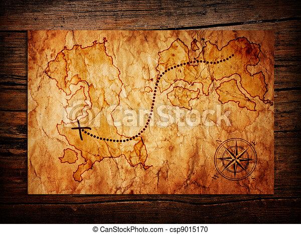Viejo mapa del tesoro - csp9015170