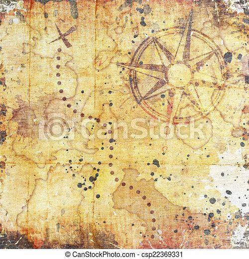 Un viejo mapa del tesoro - csp22369331