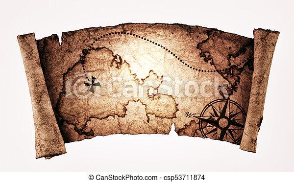 Un viejo mapa del tesoro - csp53711874
