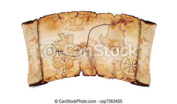 Viejo mapa del tesoro - csp7363455