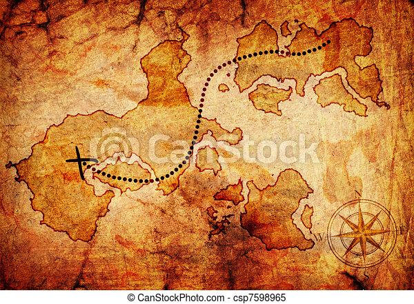 Viejo mapa del tesoro - csp7598965