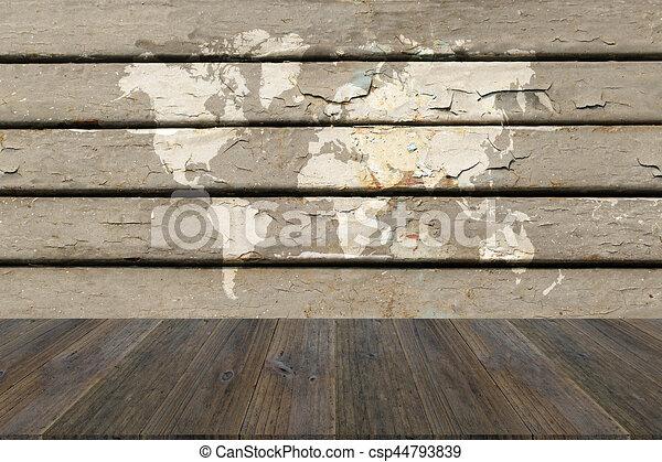 Mapa Textura Madera Terraza Plano De Fondo Mundo