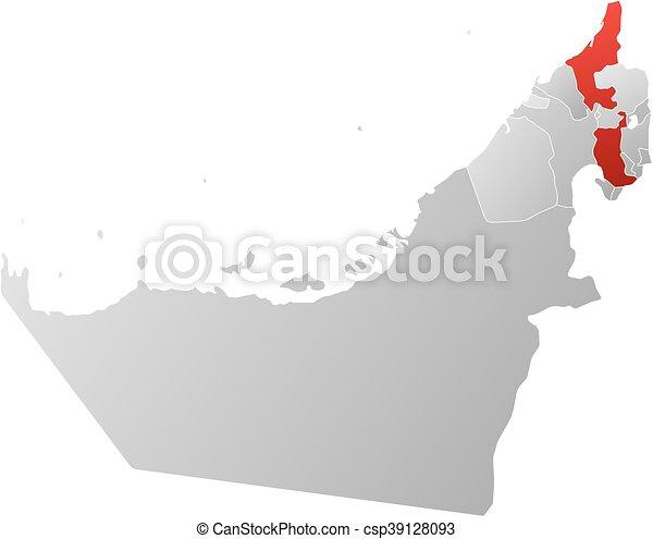 Mapa Unidas Arabe Emirates Ras Al Khaimah Mapa Unidas