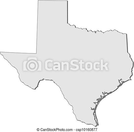 Mapa de Texas (Estados Unidos) - csp10160877