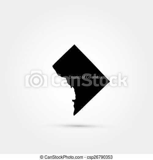 Mapa del distrito de Columbia - csp26790353