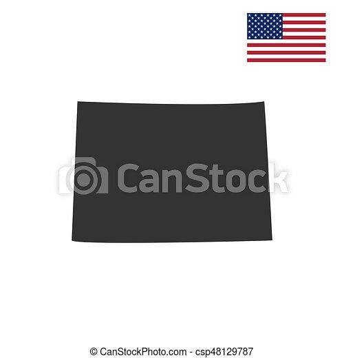 Estado de Colorado en el mapa - csp48129787