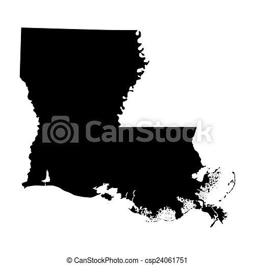Mapa del estado de Luisiana - csp24061751
