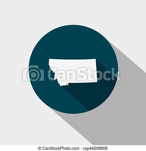 Mapa del Estado Montana - csp44208809