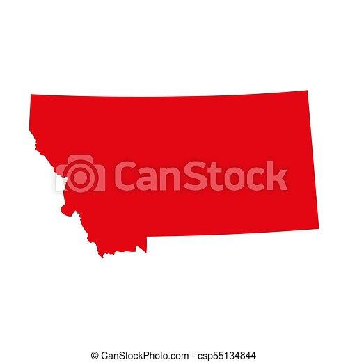 Mapa del estado de Montana - csp55134844