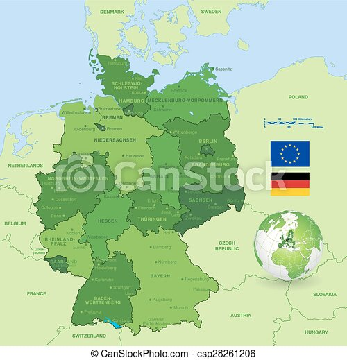 El mapa vector de Alemania - csp28261206