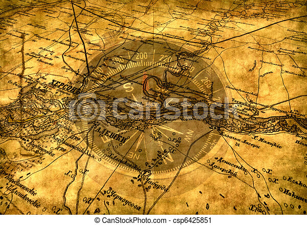 Viejo mapa - csp6425851