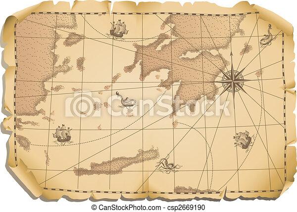 Viejo mapa - csp2669190
