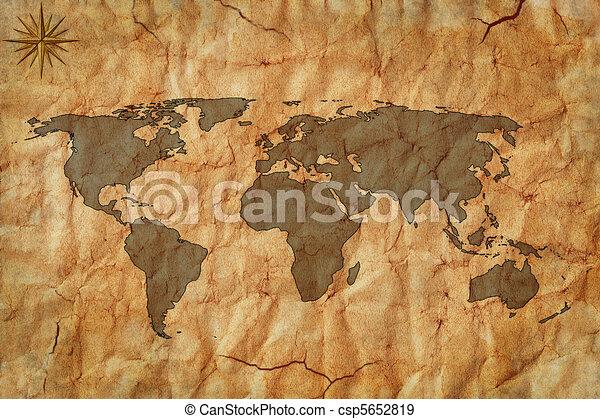 Viejo mapa - csp5652819