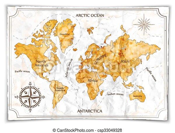 Mapa vieja - csp33049328
