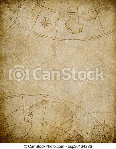 Antecedentes de mapa antiguo con espacio de copiado - csp30134226