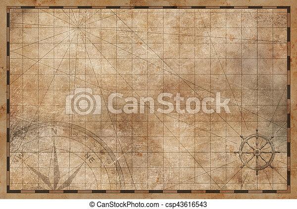 Antiguo fondo de mapa antiguo - csp43616543