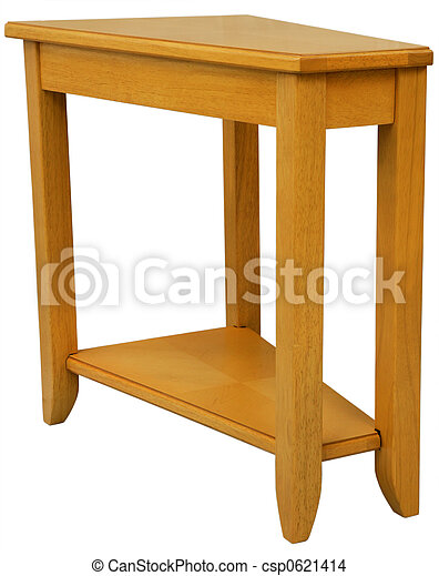 Maple End Table Maple Wood Wedge Shaped End Table In Natural Finish
