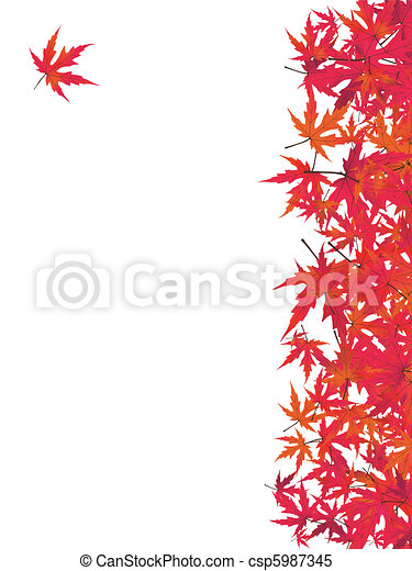 maple., eps, japoneses, vermelho, 8 - csp5987345