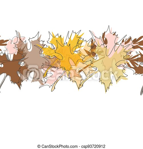 Maple fall leaves background - csp93720912