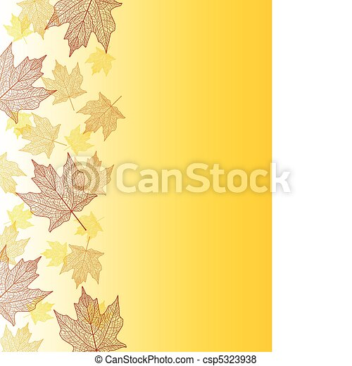 Maple leaf border - csp5323938