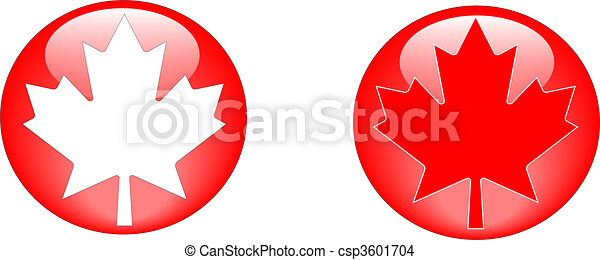 Maple leaf buttons - csp3601704