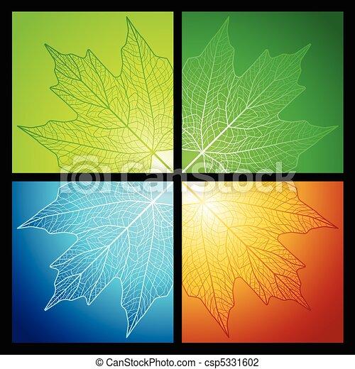 Maple leaf corners - csp5331602