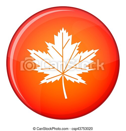 Maple leaf icon, flat style - csp43753020